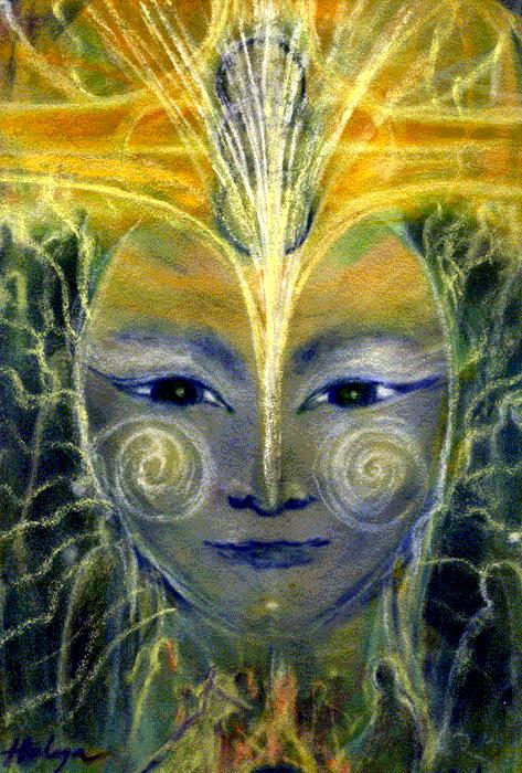 Mutuhu Lemurian Earth Goddess - Platinum Ray