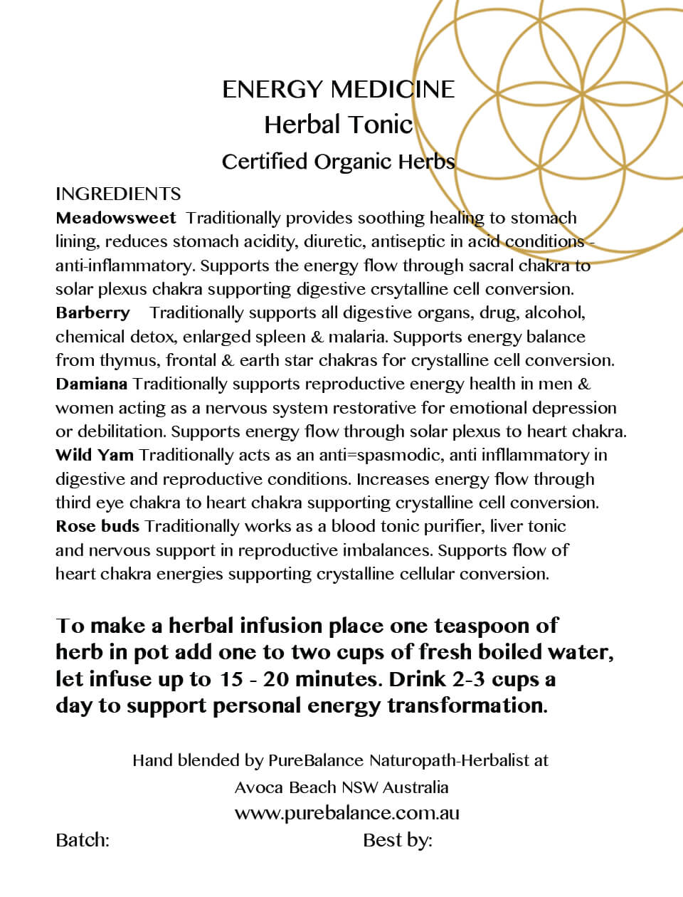 self love organic herbal tea platinum alchemy