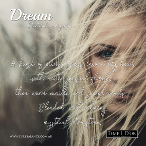 DREAM botanical perfume by Kim Lansdowne-walker