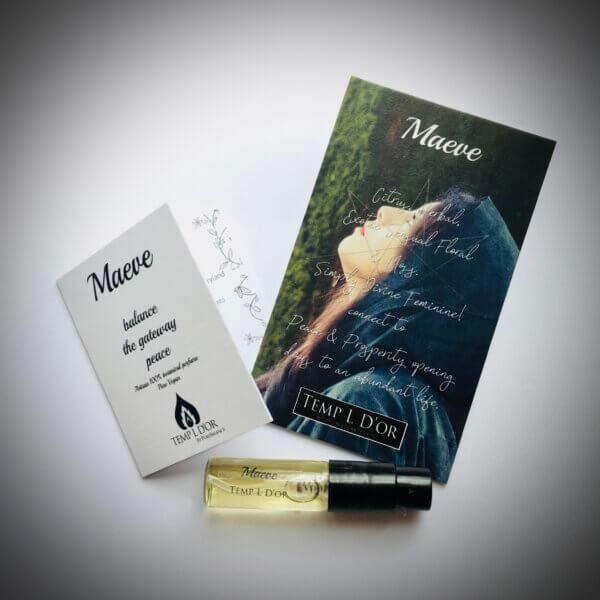 Maeve trial - Elven Star Botanical Perfume range by Perfume Alchemist Kim Lansdowne-Walker
