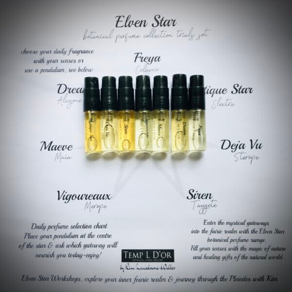 Elven Star Botanical Perfume Collection trials by Perfume Alchemist Kim Lansdowne-Walker